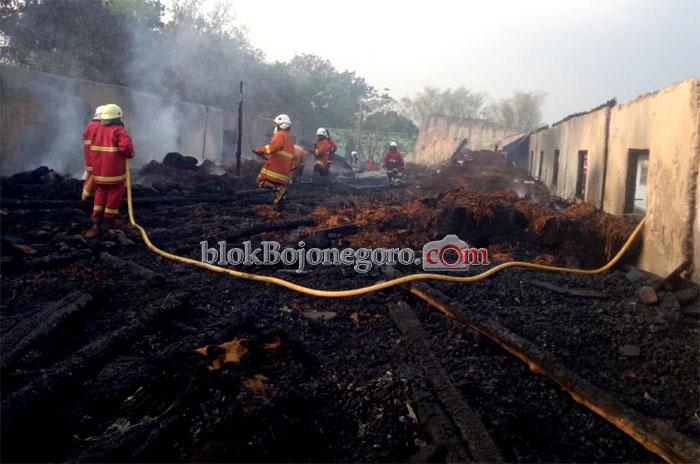 50 Ton Tembakau di Gudang Baureno Ludes Terbakar