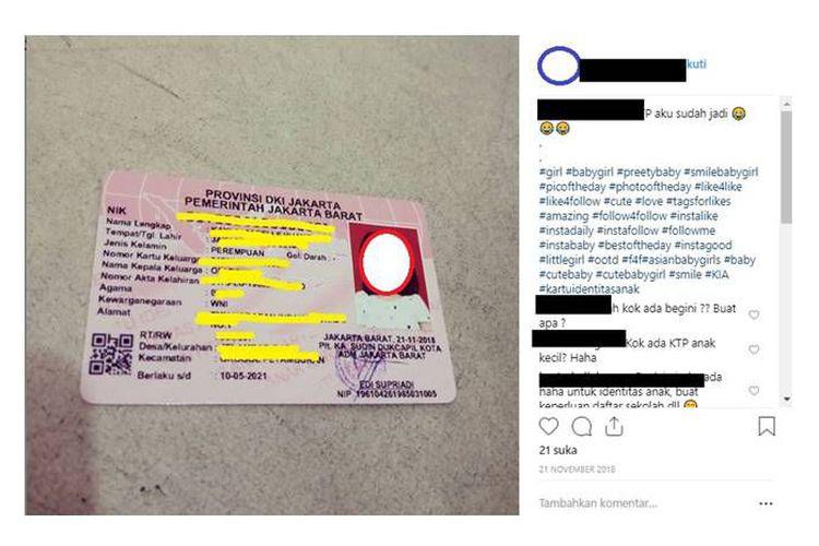 Orangtua Diimbau Tak Mengunggah Foto Kartu Identitas Anak di Medsos