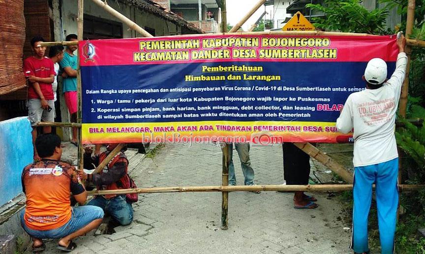 Tutup Akses Jalan Desa Sampai Anggarkan Puluhan Juta