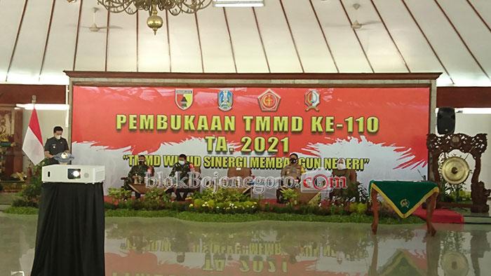 Wakil Gubernur Hadiri Pembukaan TMMD di Bojonegoro