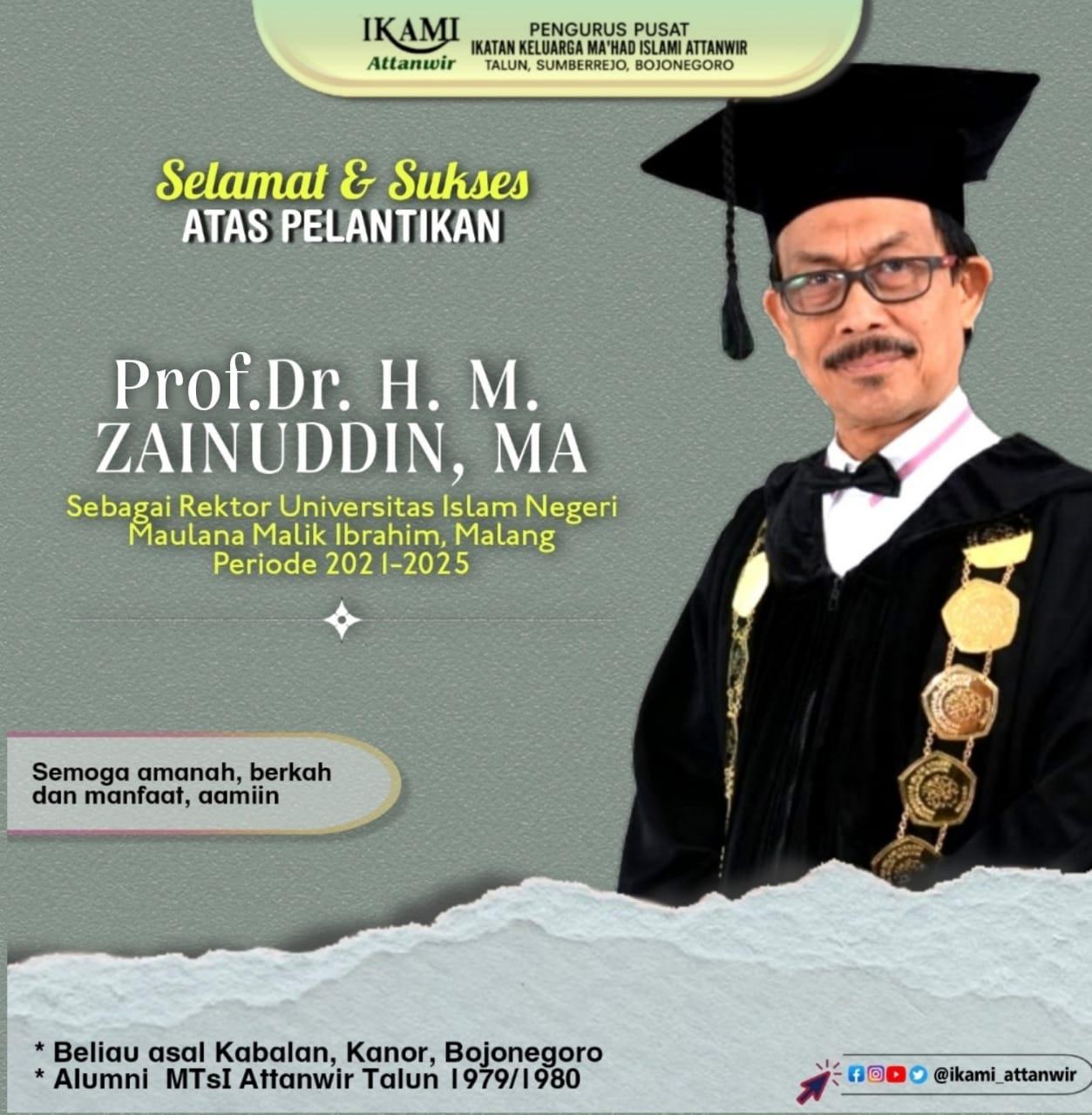 Putra Daerah Bojonegoro, Prof Zainuddin Resmi Jabat Rektor UIN Malang