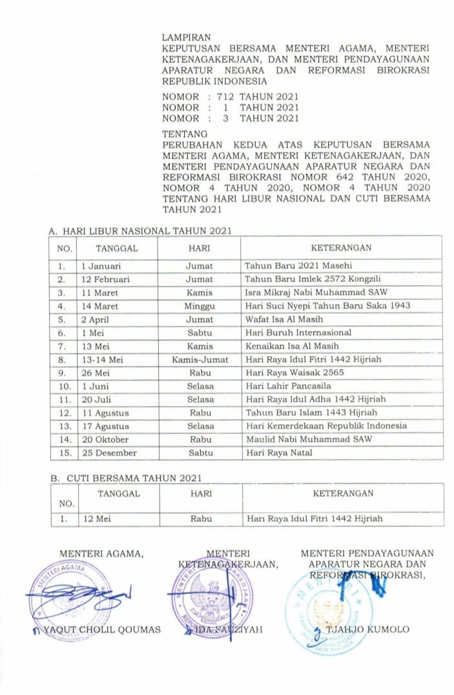 Hari Libur Nasional 1 Muharram Digeser Begini Alasannya