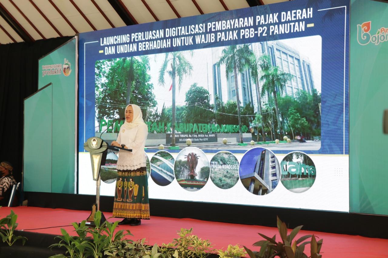 Bupati Bojonegoro Launching P2DD dan Pengundian Hadiah Bagi Wajib Pajak Panutan