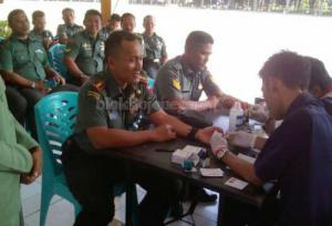 HUT TNI ke-72, Kodim Bojonegoro Gelar Donor Darah Serentak