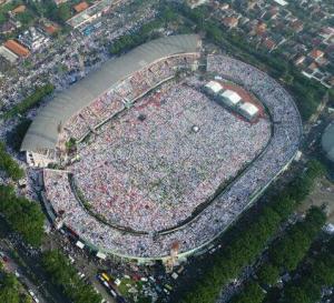 Ratusan Ribu Nahdliyin Putihkan Gelora Delta Sidoarjo