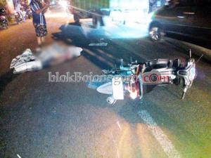 Ditabrak Pemotor, Warga Ngrowo Tewas di Jalan Pemuda