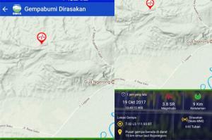 Gempa Guncang Bojonegoro dan Tuban