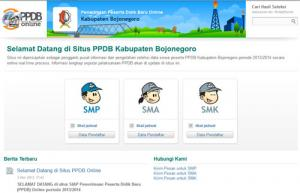 Bojonegoro | Inilah Hasil Sementara SMP PPDB Online di Hari Pertama