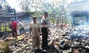 Tiga Rumah dan Satu Gudang Padi Ludes Terbakar