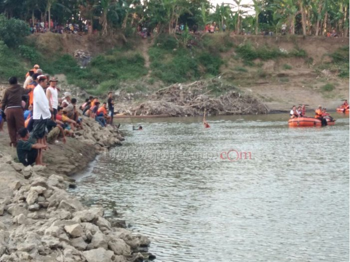 Lokasi Pencarian di TKP Santri Tenggelam