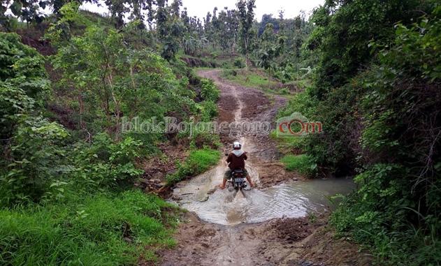 Jalan di Desa Deling Mirip Jalan Kerbau
