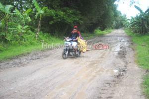 Penghujan, Jalan Poros Kecamatan Mulai Berlubang