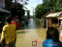 Sungai Mekuris Meluap, Ratusan Rumah Terendam